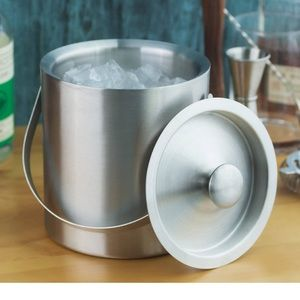 Ice Bucket Stainless Steel Double Walled w/Tong